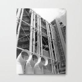 Centre Pompidou   Renzo Piano + Richard Rogers Metal Print