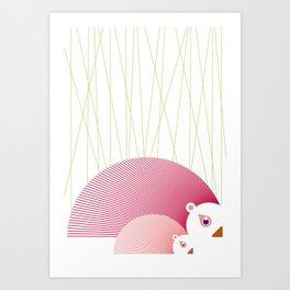 Porcupines Art Print