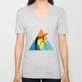 Stargazing Triangle Tee RETRO EDITION Unisex V-Neck