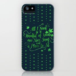Weed-poetry iPhone Case