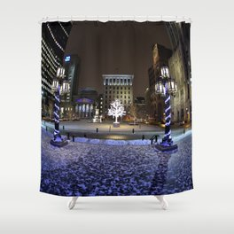 The Perfect City Winter Scene Shower Curtain