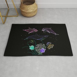 DOLPHINS AND OTHER SEA ANIMALS Rug