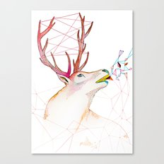 October Deer Canvas Print