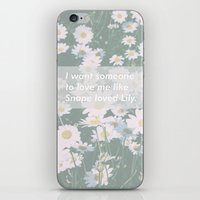 snape iPhone & iPod Skins featuring Love me like Snape loved Lily by Kat Heroine