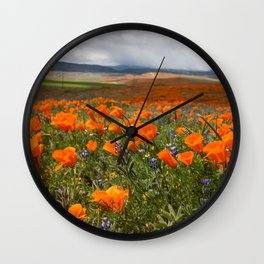 California Superbloom Wall Clock