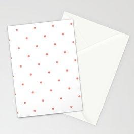 Pink Polka Dots Stationery Cards