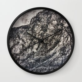 Grey Moutain by Gerlinde Streit Wall Clock
