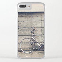 bikes in lucca  Tuscany Italy Clear iPhone Case