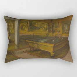 Billiard Room at Ménil-Hubert Rectangular Pillow