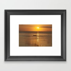 Golden Framed Art Print