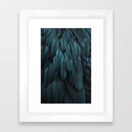DARK FEATHERS Framed Art Print