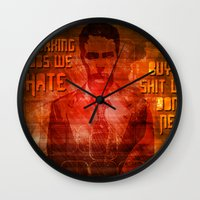 cycle Wall Clocks featuring Cycle by Be Yourself