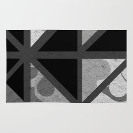 Cotton Textured Geometrical Abstract Design Rug