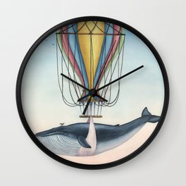 Whale And Bird Wall Clock