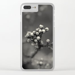 spring is upcoming - black'n white Clear iPhone Case