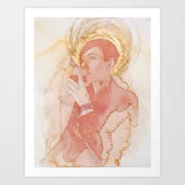 Self-portrait as Saint Pompette No. 2 Art Print