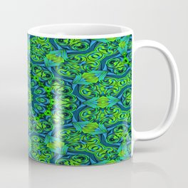 Green-black-blue kaleidoscope Coffee Mug