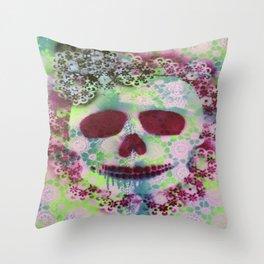 Lavender Skull Throw Pillow