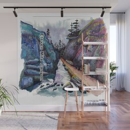 Eleven MiIe Canyon with text Wall Mural