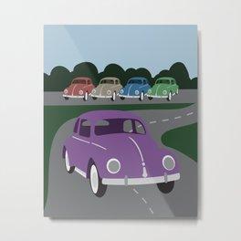 V Bug Metal Print