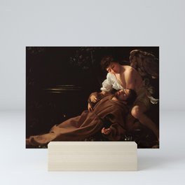Saint Francis of Assisi in Ecstasy by Caravaggio Mini Art Print