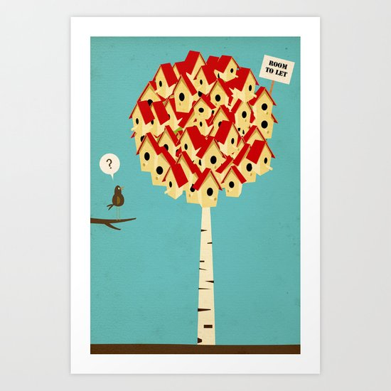 Room to let Art Print