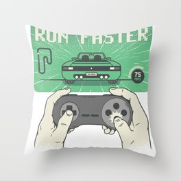 drive faster Throw Pillow
