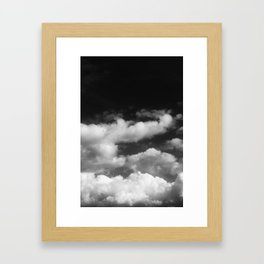 Clouds in black and white Framed Art Print