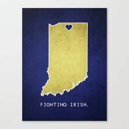 Notre Dame - Fighting Irish Canvas Print