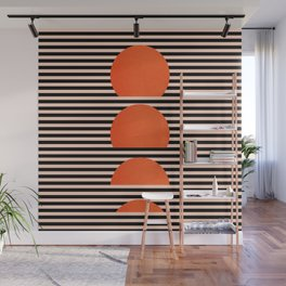 Abstraction_SUNSET_LINE_ART_Minimalism_001 Wall Mural