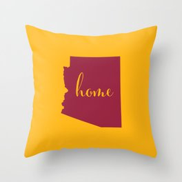 Arizona is Home - Go Cardinals! Throw Pillow
