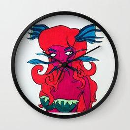 Catfish Girl Wall Clock