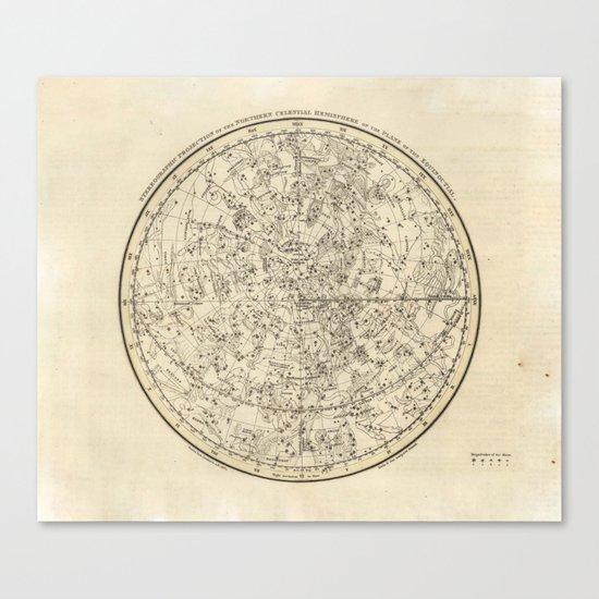 Vintage Celestial Map Canvas Print
