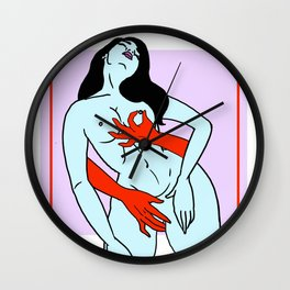 Red Handed Wall Clock