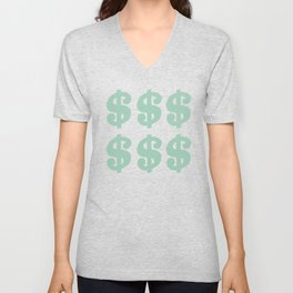 Mint Dollars Unisex V-Neck