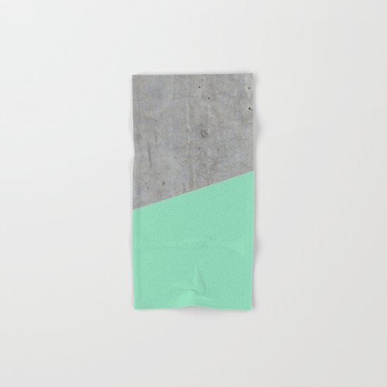 Concrete and sea Hand & Bath Towel