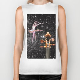 Violin and Ballet Dancer number 1 Biker Tank