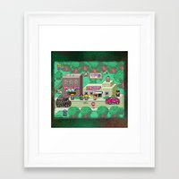 earthbound Framed Art Prints featuring Earthbound town by likelikes