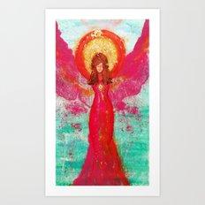 Aurora Angel of Peace Art Print