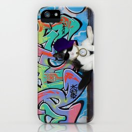 Cat Attitude.....Kitten and Graffiti Wall iPhone Case