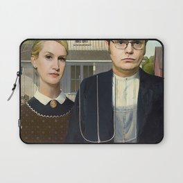 Dwight And Angela American Gothic Laptop Sleeve