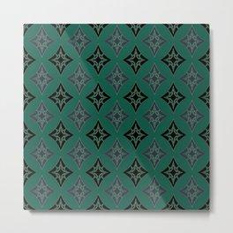 Green Art Deco Metal Print
