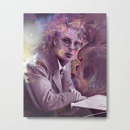 Aldous Huxley Digital Painting Metal Print