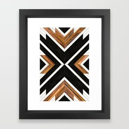 Urban Tribal Pattern 1 - Concrete and Wood Framed Art Print