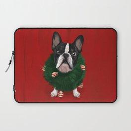 Christmas Bulldog Laptop Sleeve