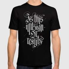 Is This Illusion Or Reality? Black SMALL Mens Fitted Tee