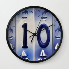 Number 10 Wall Clock
