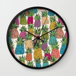 West Coast pineapples Wall Clock
