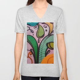 Colors at the wall Unisex V-Neck