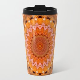 Orange kaleidoscope Travel Mug